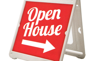 Open House A-Frame Sandwich Board Sign