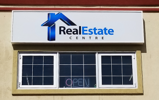 Real Estate Cabinet Sign