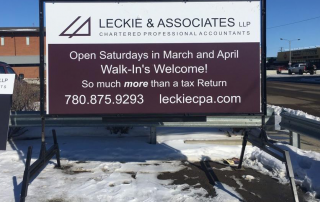 Portable Signs - Leckie and Associates