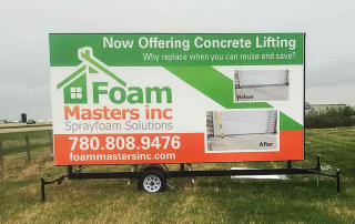 Foam Masters Portable Sign