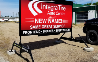 Integra Tire Portable Sign