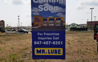 Mr. Lube Temporary Sign