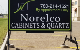 Norelco Portable Sign