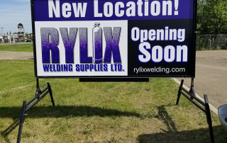 Portable sign for Rylix Welding