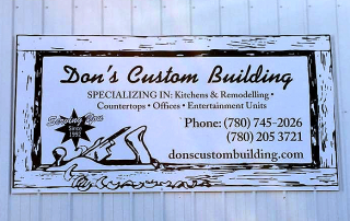 Don's Custom Building Sign