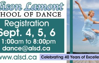 Digital billboard for Alison Lamont School of Dance