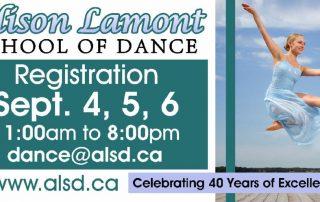 Digital billboard for Alison Lamont School of Dance