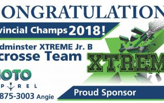 Digital billboard for Xtreme Lacross and Moto Apparel