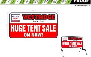 Westridge portable sign design